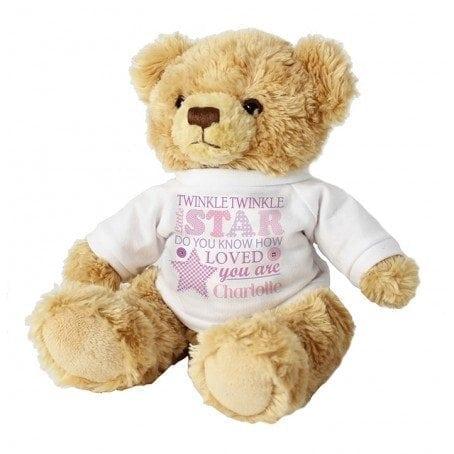 Personalised Twinkle Girls Teddy