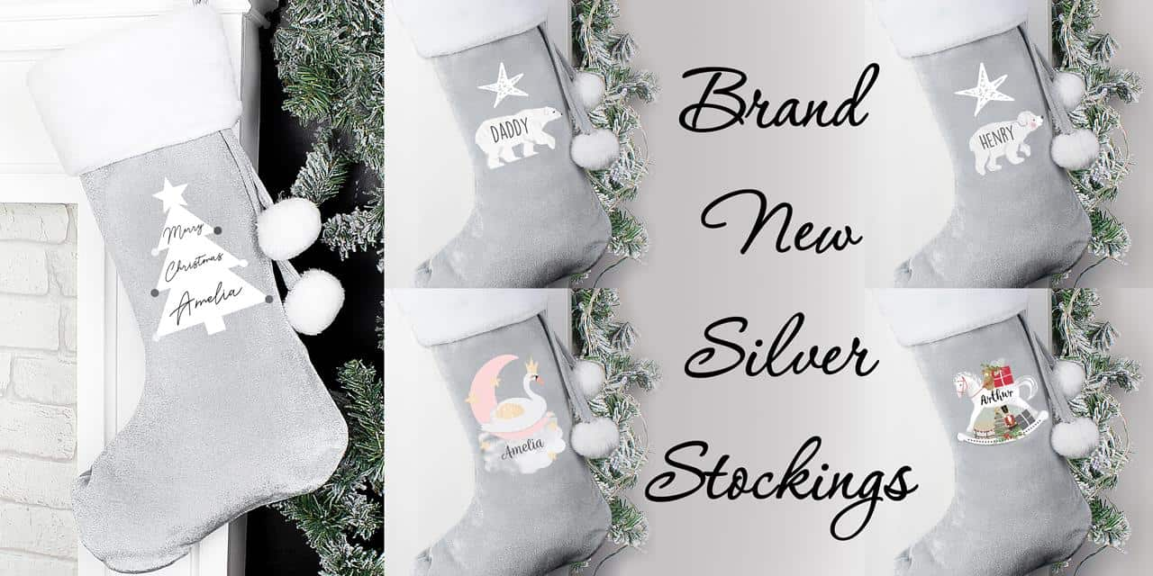 Personalised Silver Stockings