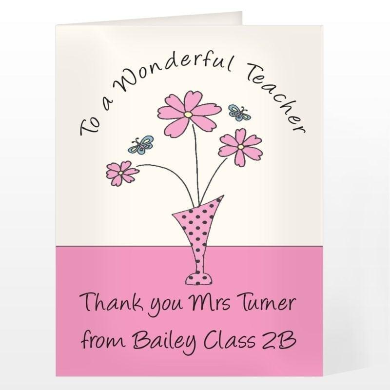 Personalised Wonderful Teacher Card
