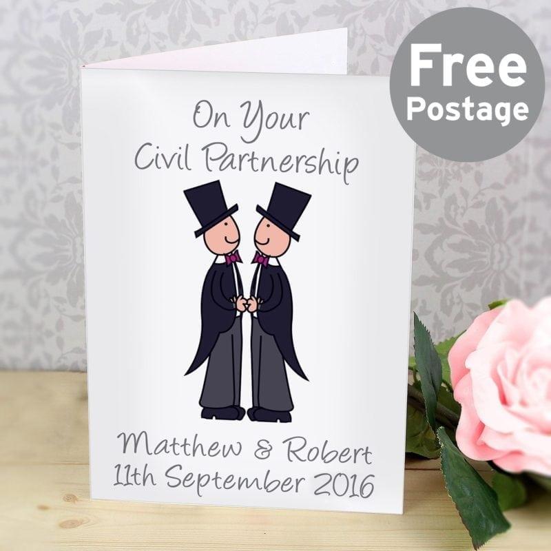 Personalised Cartoon Male Partnership Card