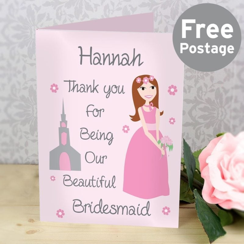 Personalised Fabulous Bridesmaid Card