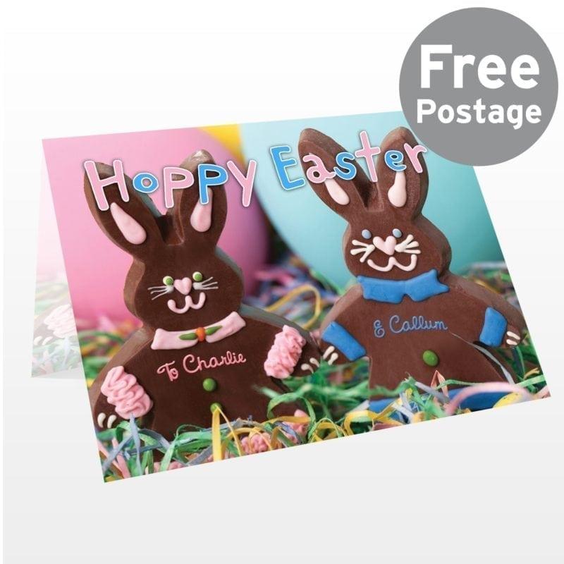 Personalised Milk Chocolate Bunny Card
