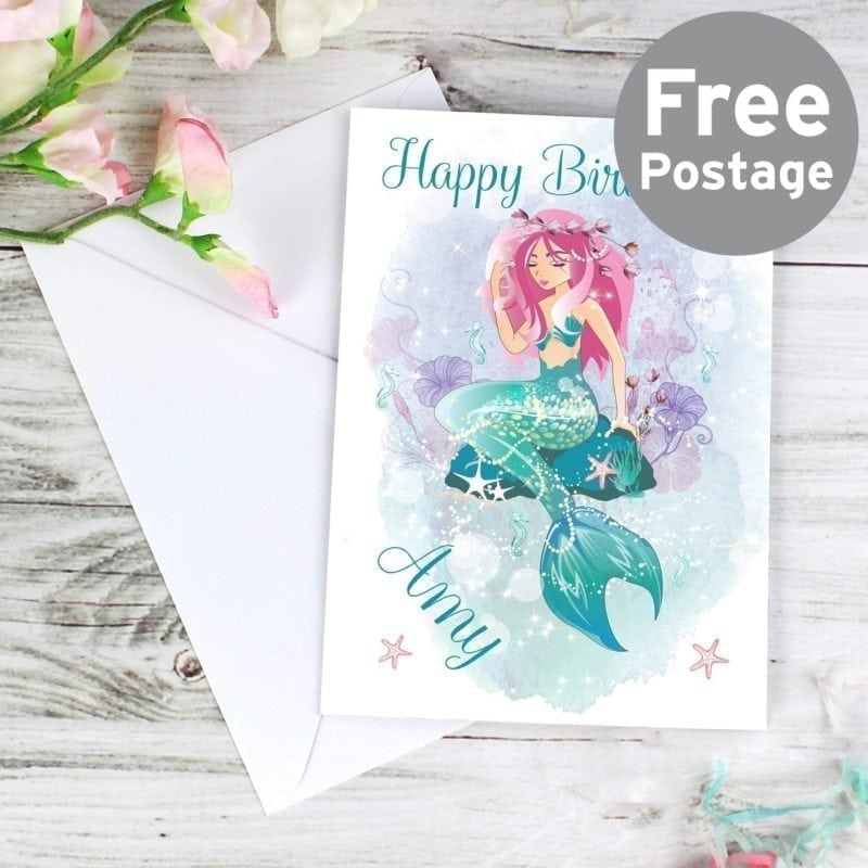 Personalised Mermaid Card