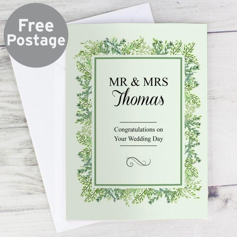Personalised Fresh Botanical Card