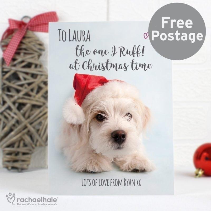 Personalised Rachael Hale Terrier Christmas Card