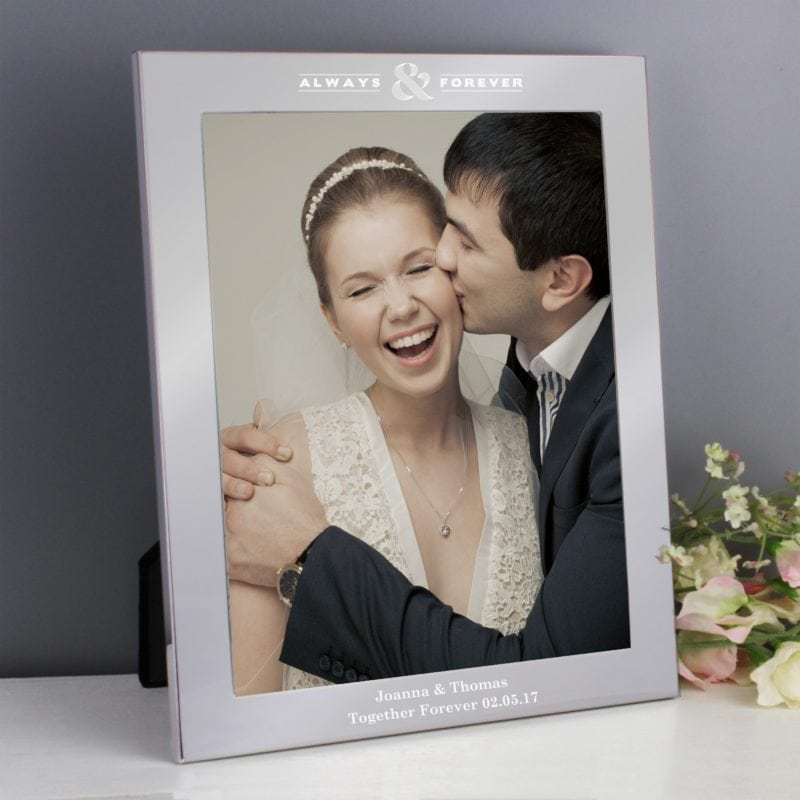Personalised Always & Forever Silver 8x10 Photo Frame