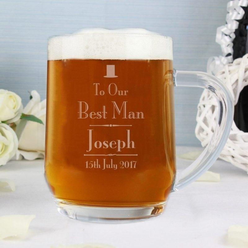 Personalised Decorative Wedding Best Man Tankard