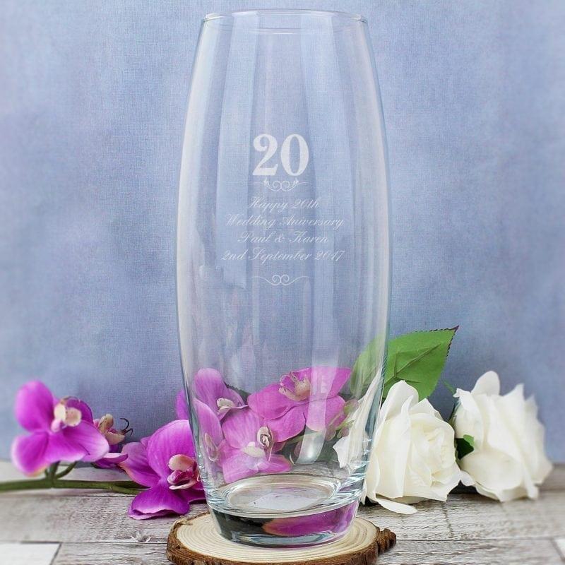 Personalised 20 Years Bullet Vase