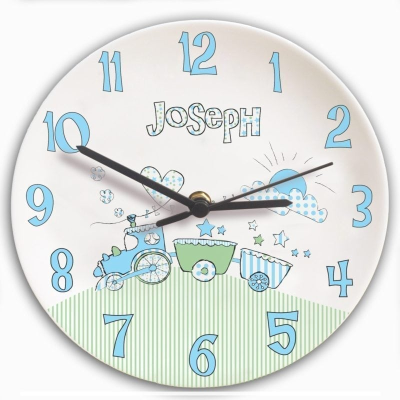 Personalised Whimsical Train Clock