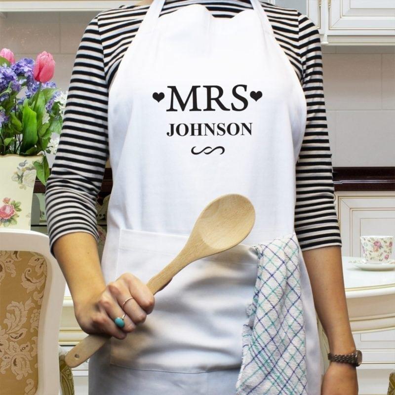 Personalised Mrs White Apron