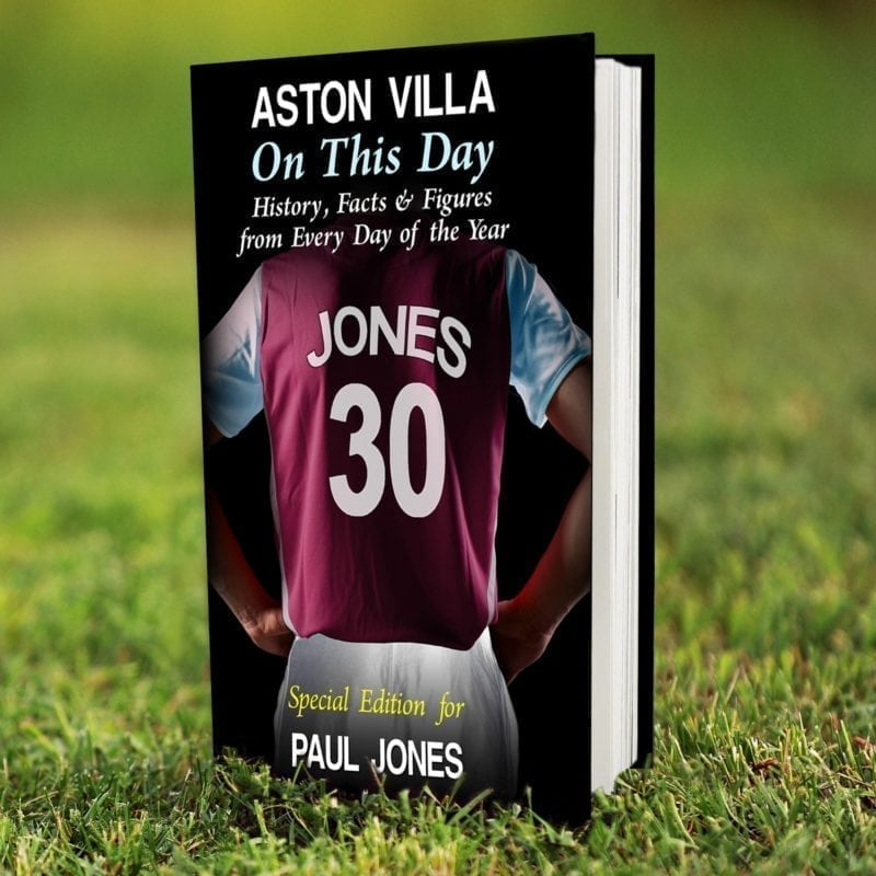 Personalised Aston Villa on this Day Book