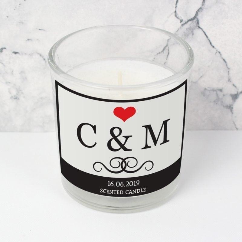 Personalised Monogram Scented Jar Candle