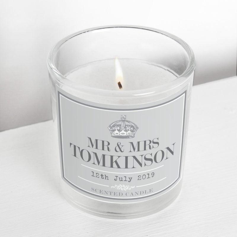 Personalised Royal Crown Scented Jar Candle