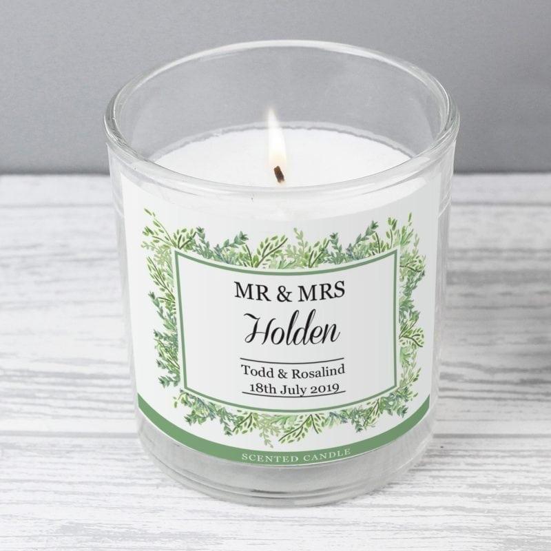 Personalised Fresh Botanical Scented Jar Candle