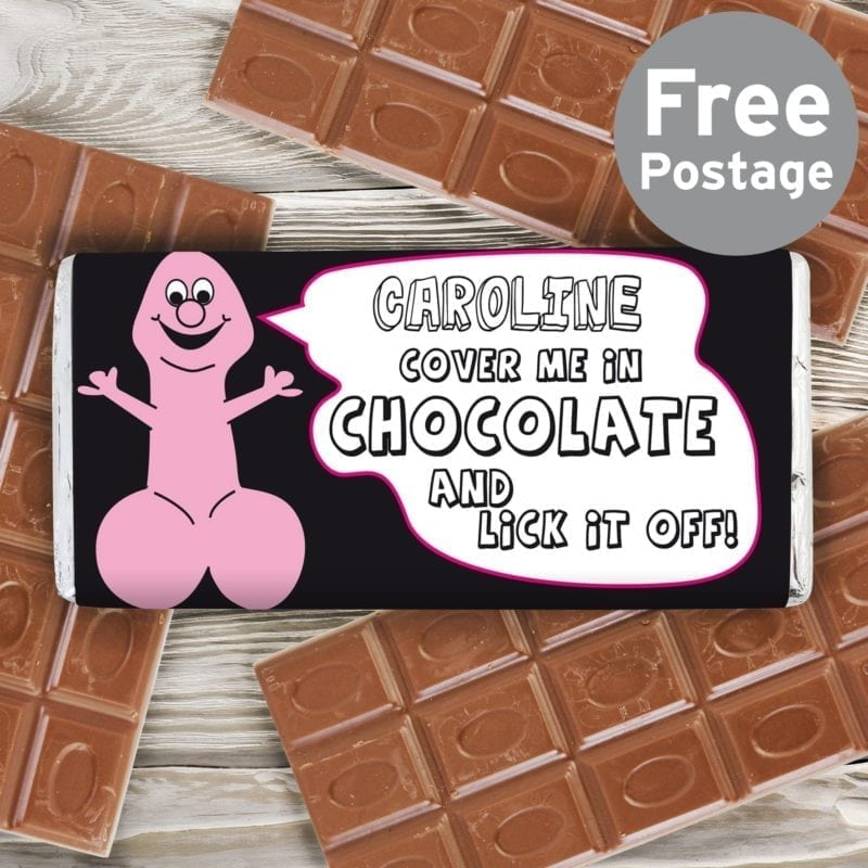 Personalised Willy Milk Chocolate Bar