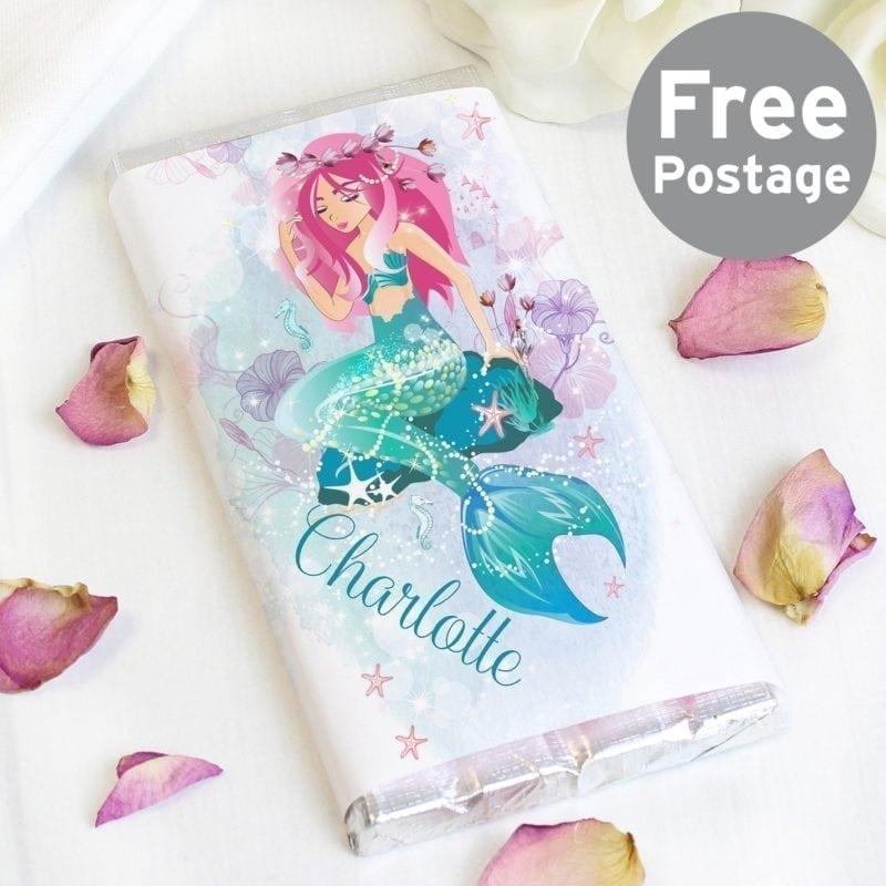 Personalised Mermaid Milk Chocolate Bar