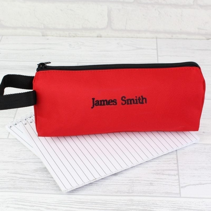 Personalised Red Pencil Case