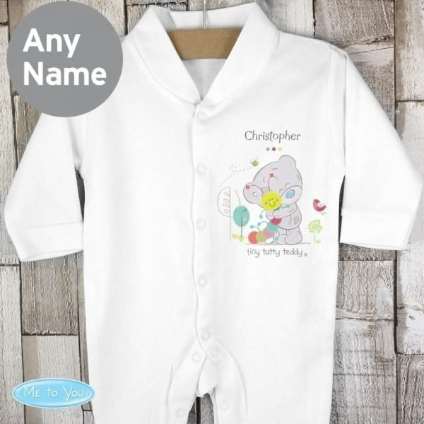 Personalised Tiny Tatty Teddy Cuddle Bug 0-3 months Babygrow