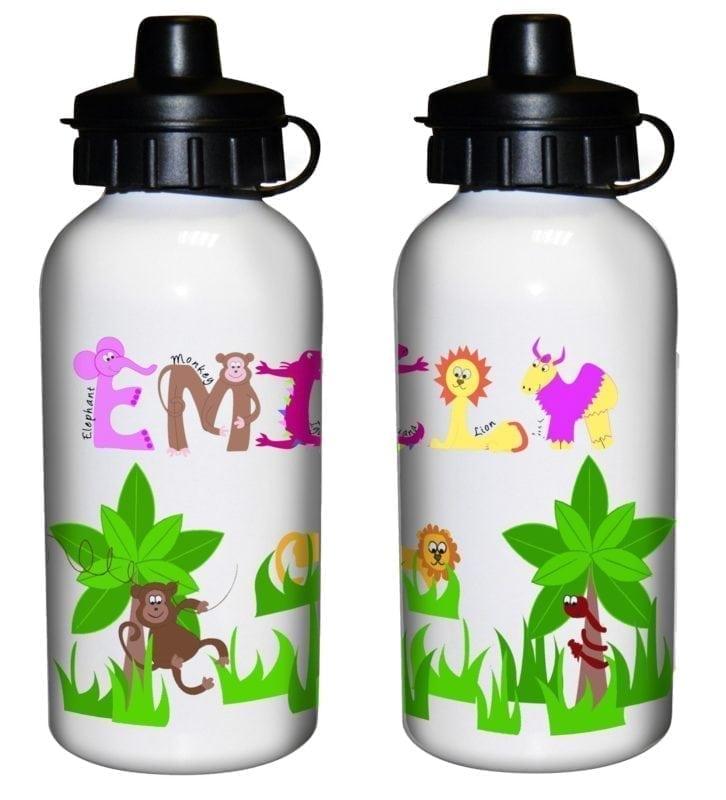Personalised Animal Alphabet Drinks Bottle