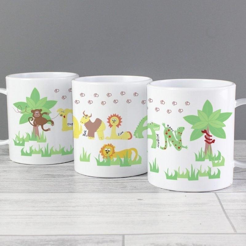 Personalised Animal Alphabet Plastic Cup