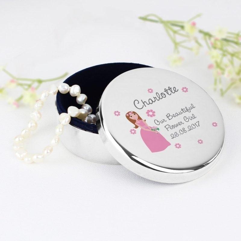 Personalised Fabulous Wedding Round Trinket Box