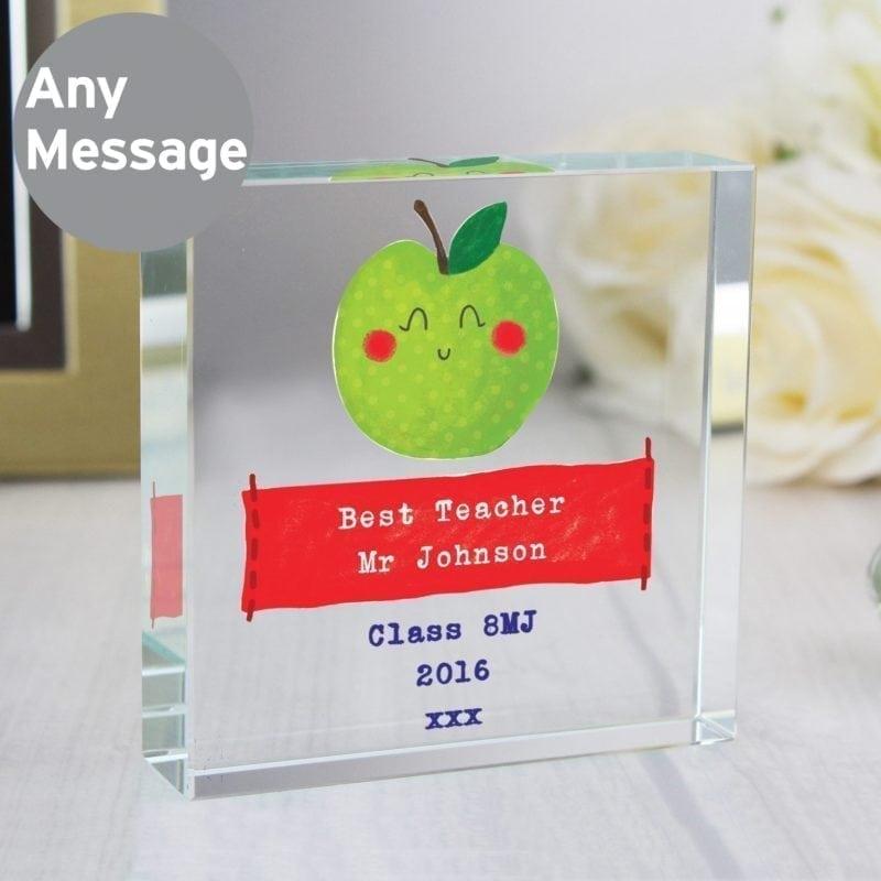 Personalised Happy Apple Large Crystal Token