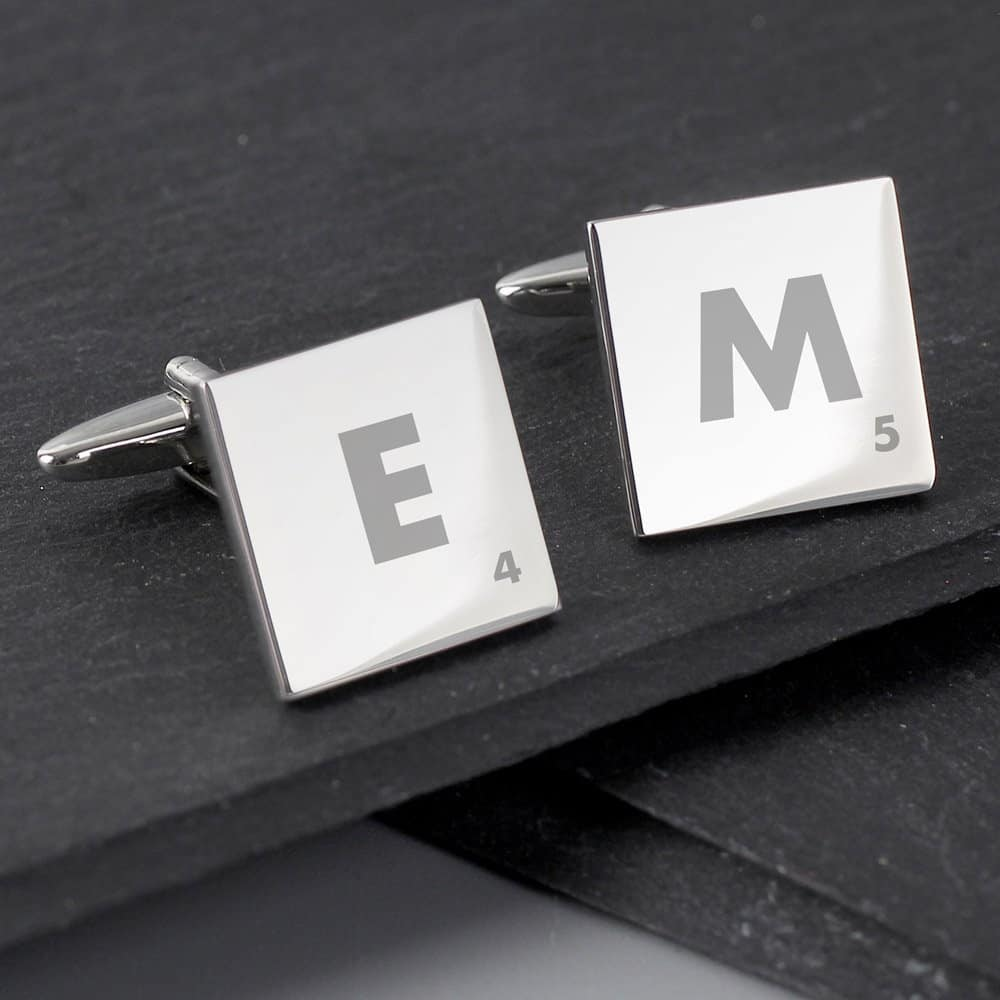 Initials and Age Square Cufflinks