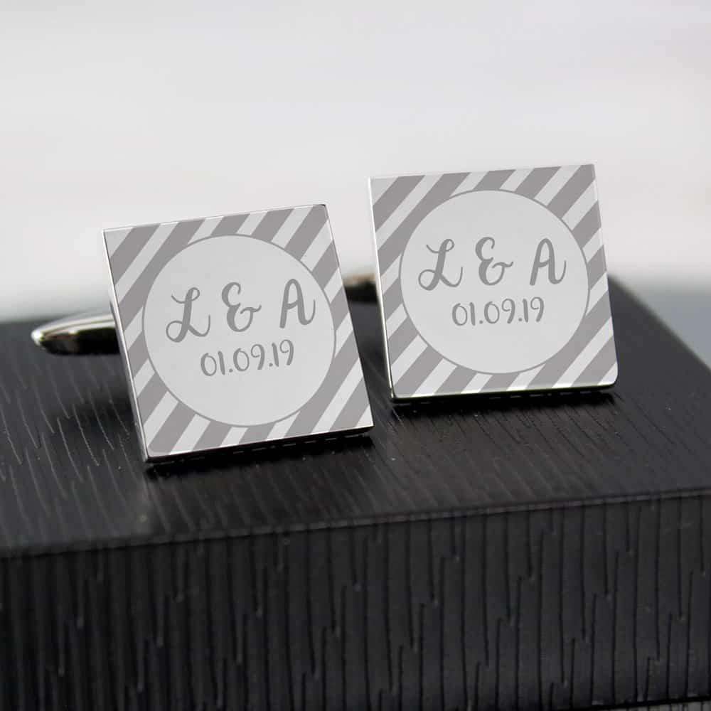 Stripes Square Cufflinks