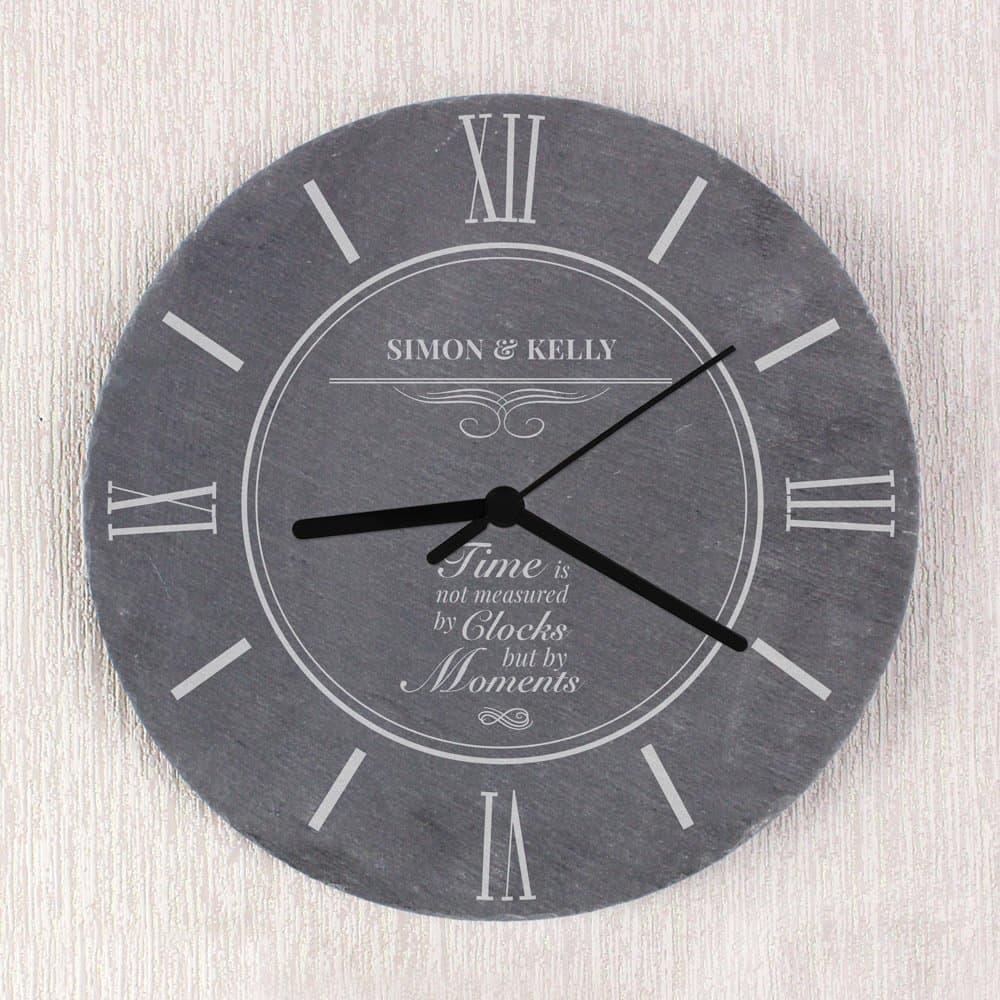 Moments Slate Clock