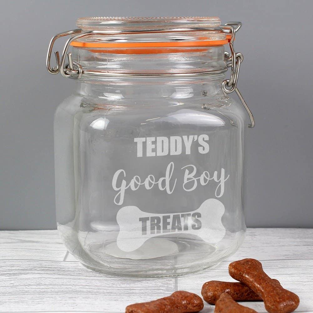 Good Boy Treats Glass Kilner Jar