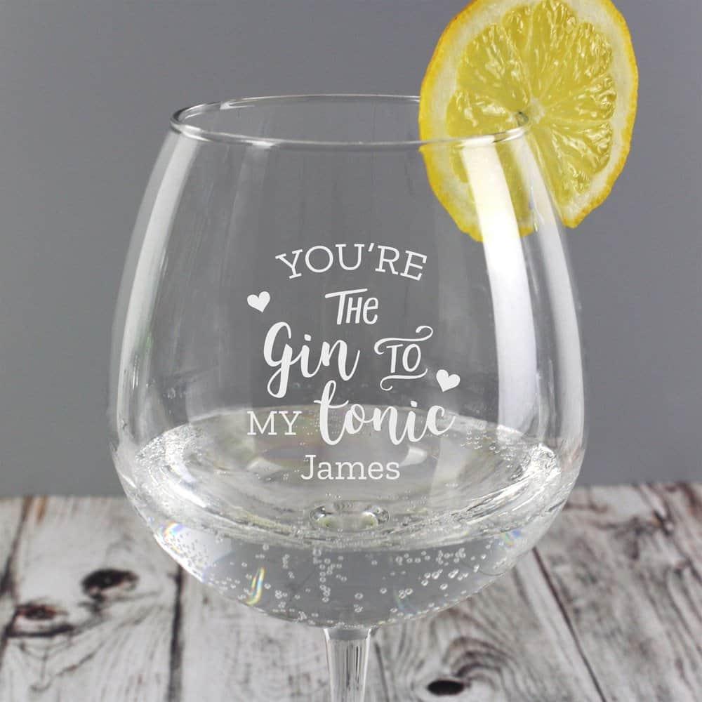 Gin to My Tonic' Gin Balloon Glass