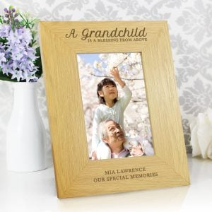 Oak Finish 4x6 'A Grandchild is a Blessing' Photo Frame