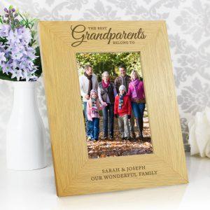 Oak Finish 'The Best Grandparents' 4x6 Photo Frame