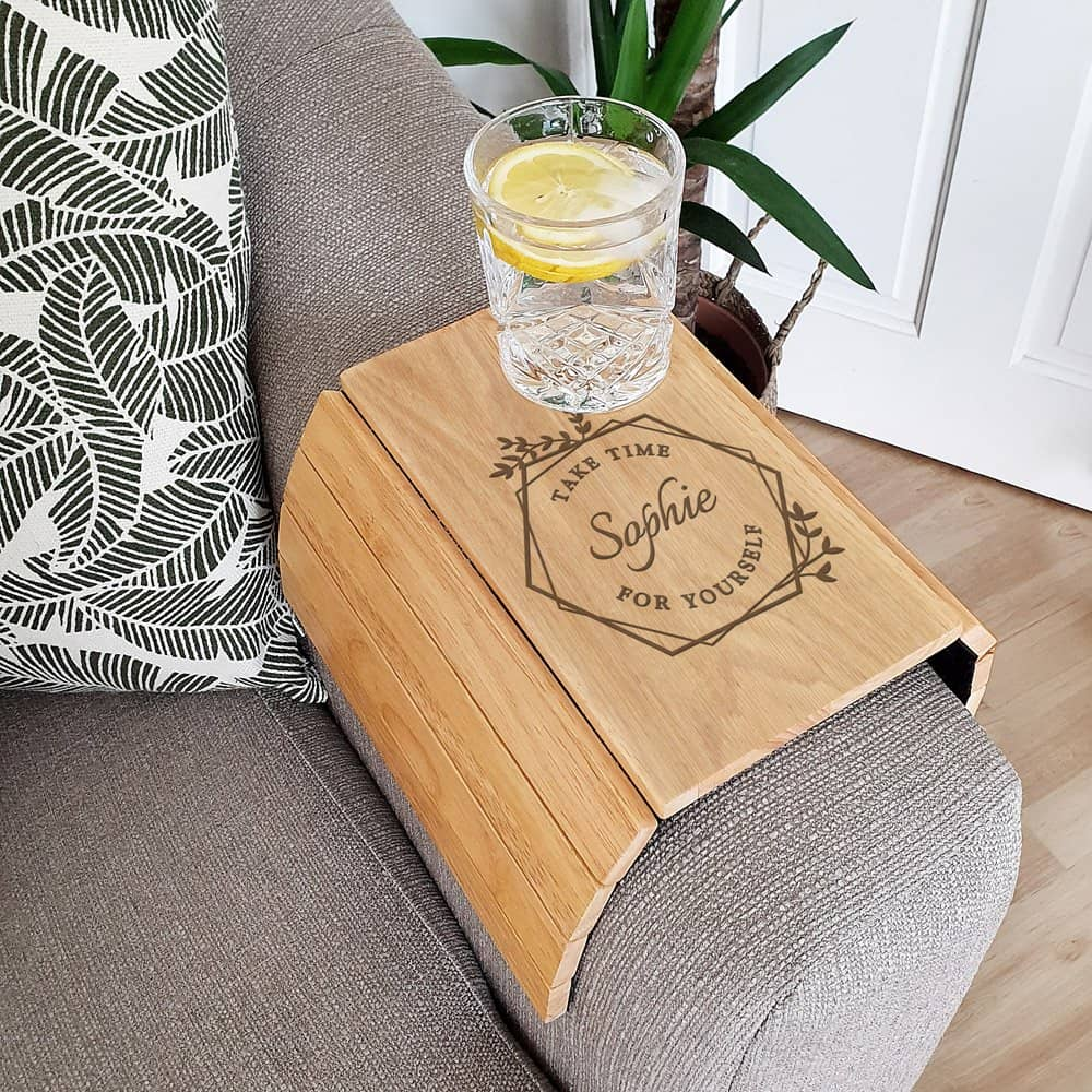 Take Time For Yourself Wooden Sofa Tray