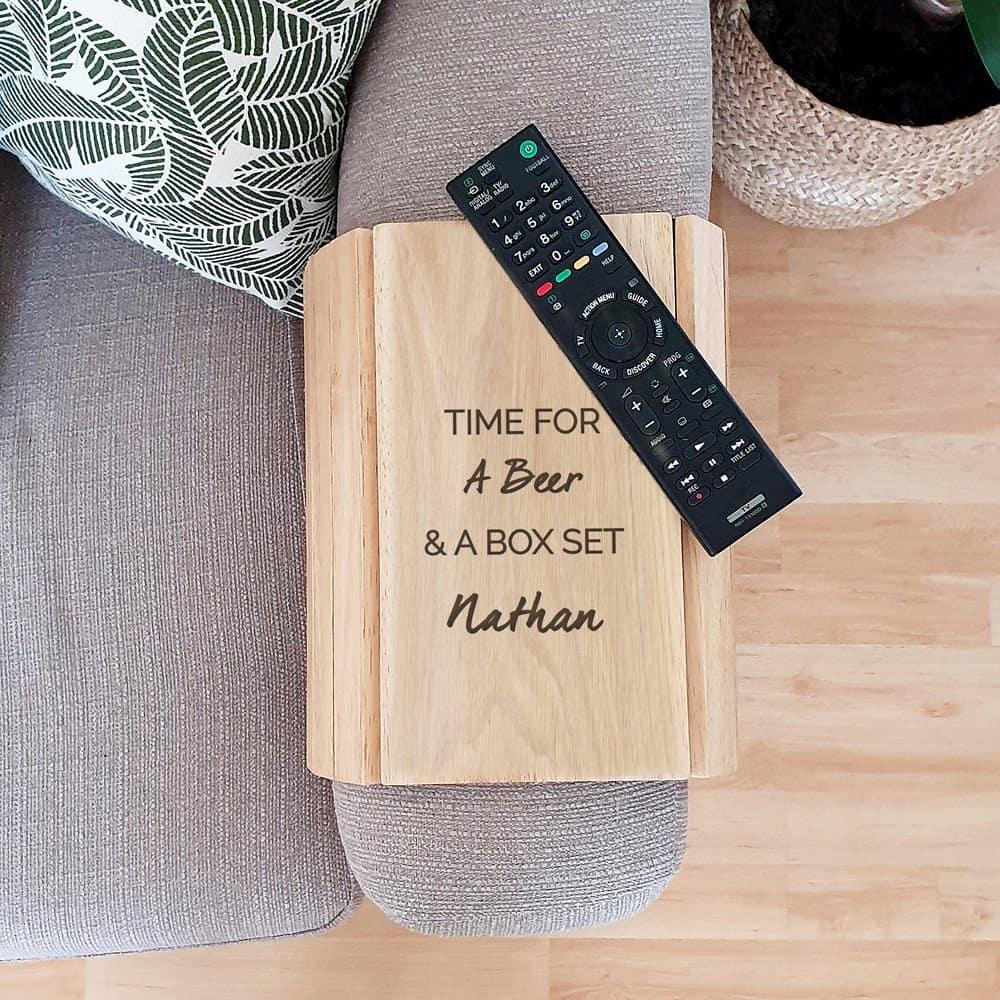 Free Text Wooden Sofa Tray