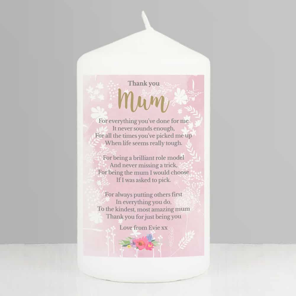 Floral Watercolour Candle