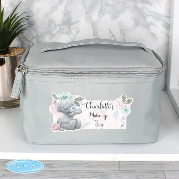 Me to You Floral Grey Make Up Wash Bag