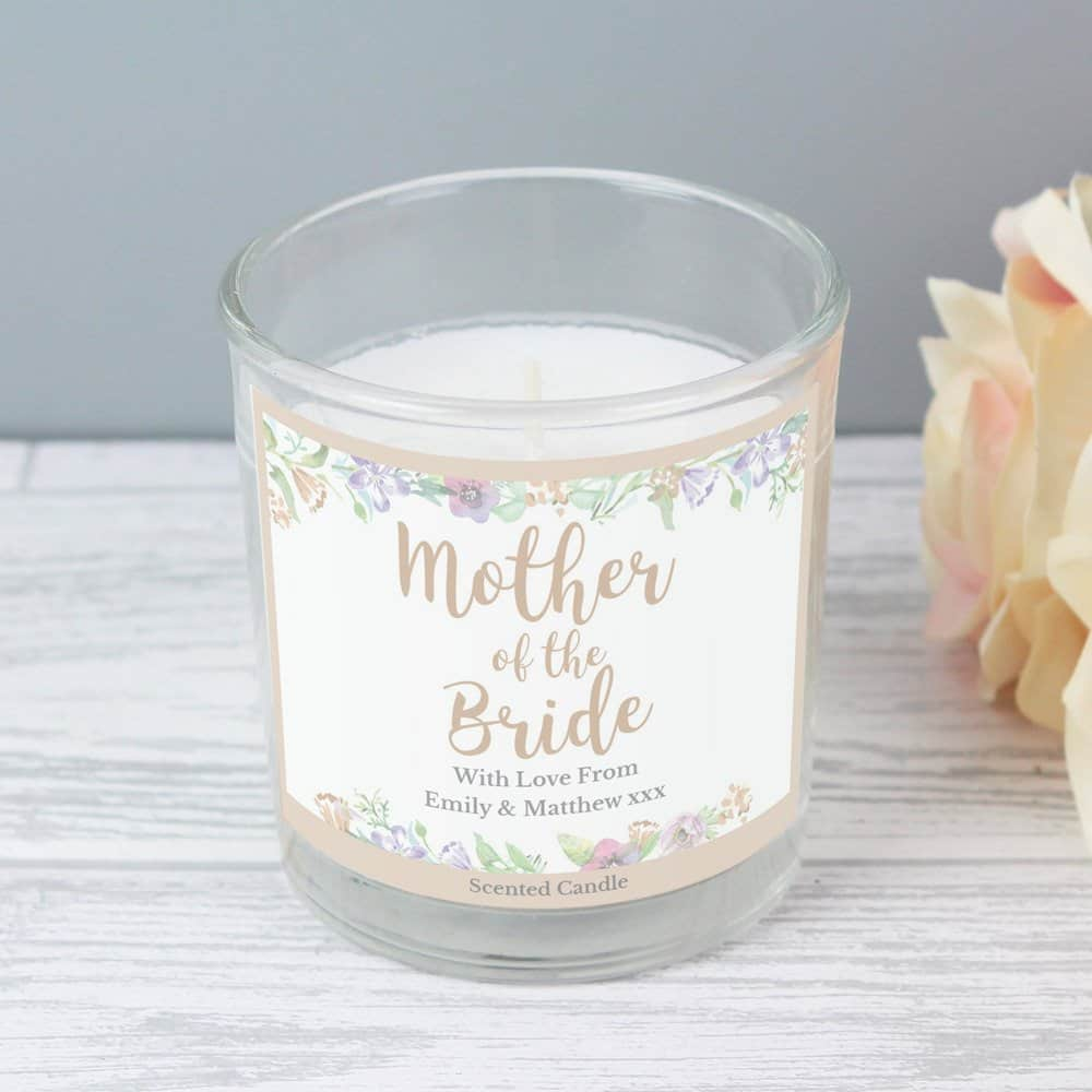 Mother of the Bride 'Floral Watercolour Wedding' Scented Jar Candle