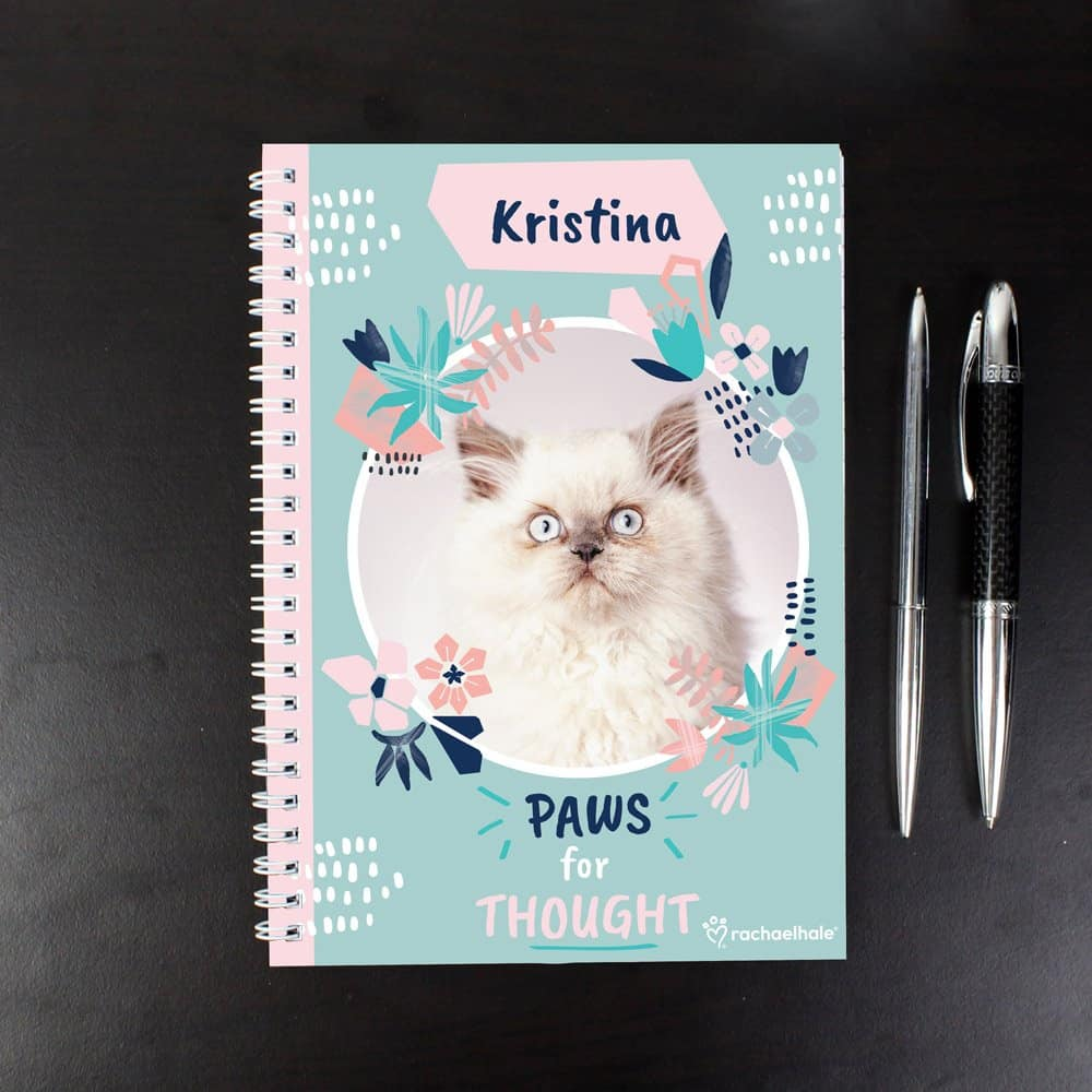 Rachael Hale 'Paws for Thought' Cat A5 Notebook