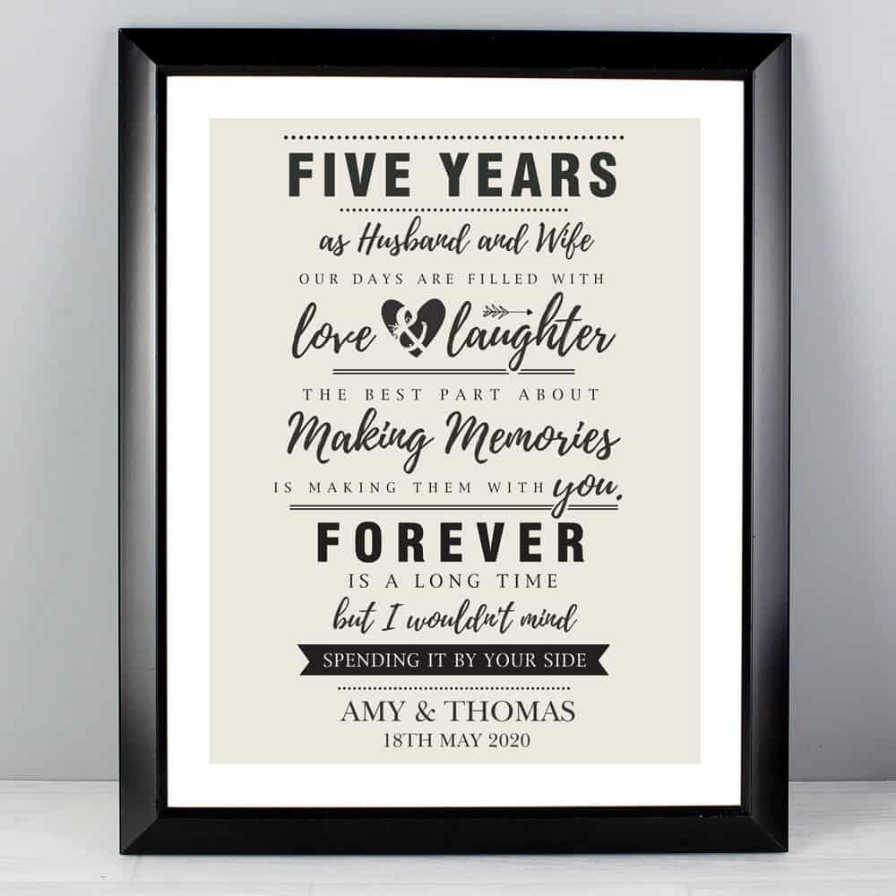 Anniversary Black Framed Poster Print