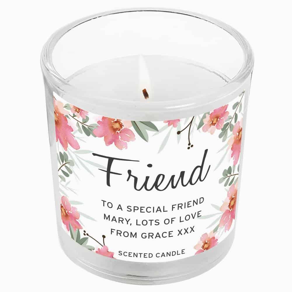 Floral Sentimental Scented Jar Candle