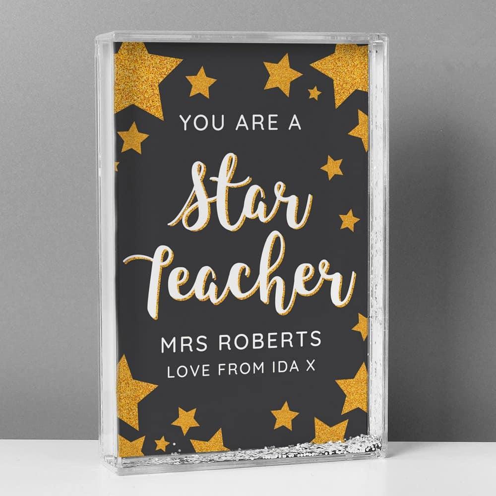 You Are A Star Teacher Glitter Shaker