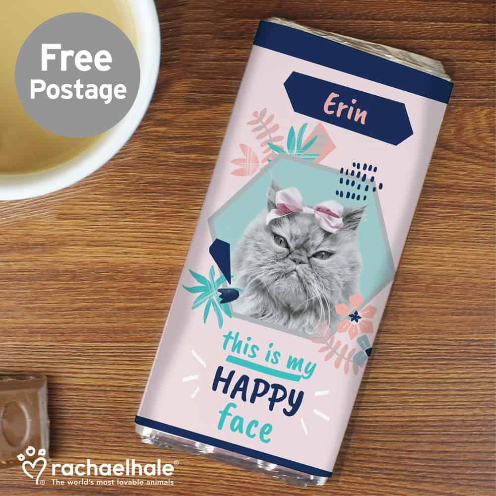 Rachael Hale 'Happy Face' Cat Chocolate Bar