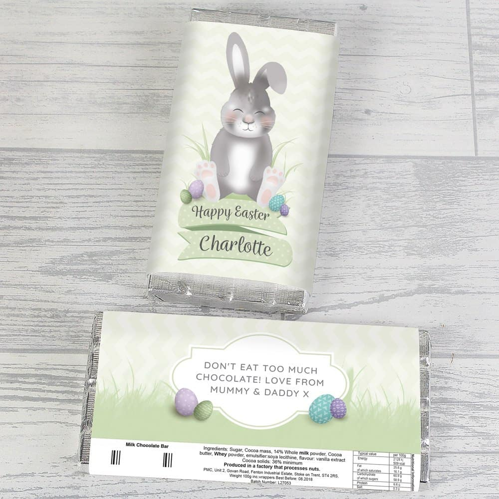 Easter Bunny Chocolate Bar