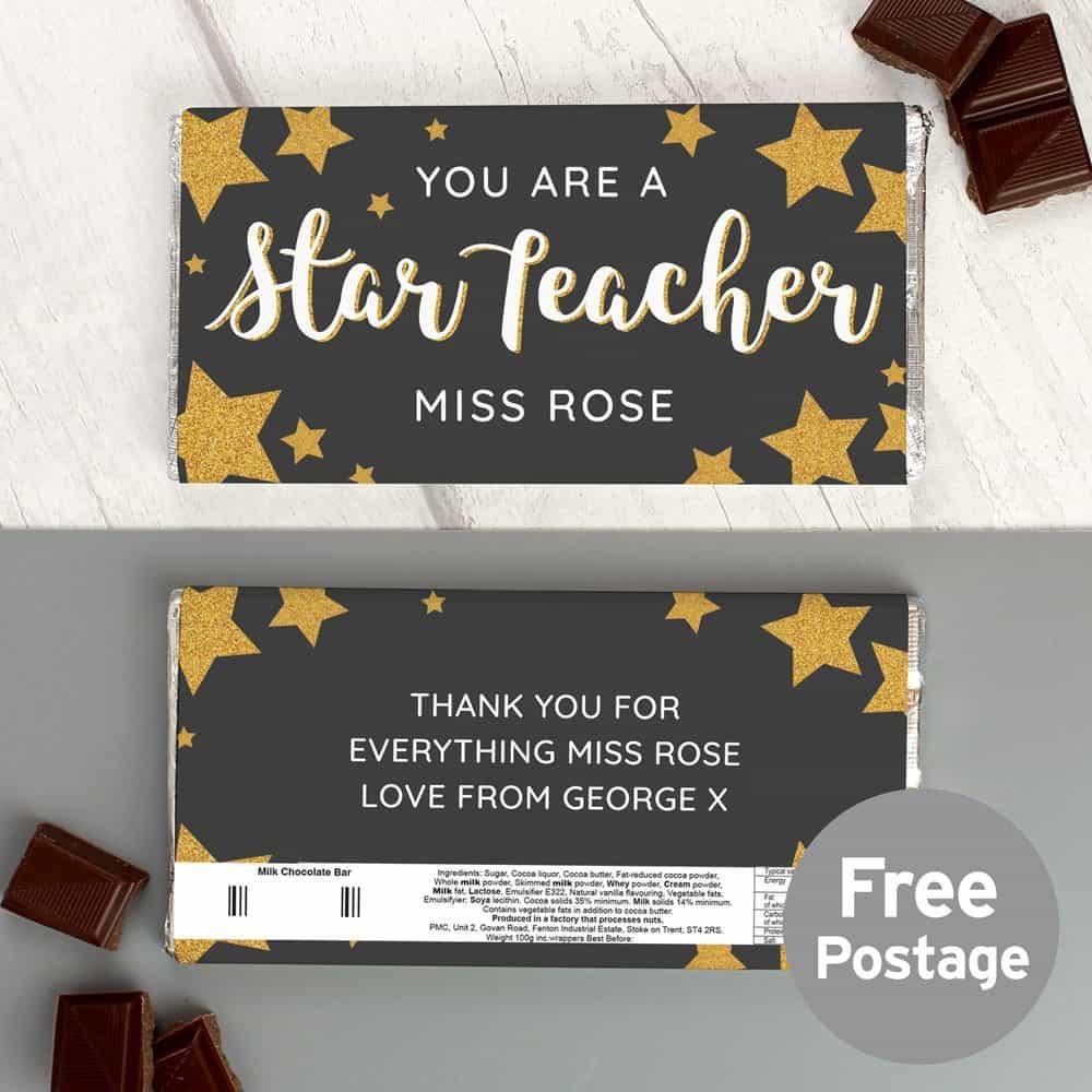 You Are A Star Teacher Milk Chocolate Bar