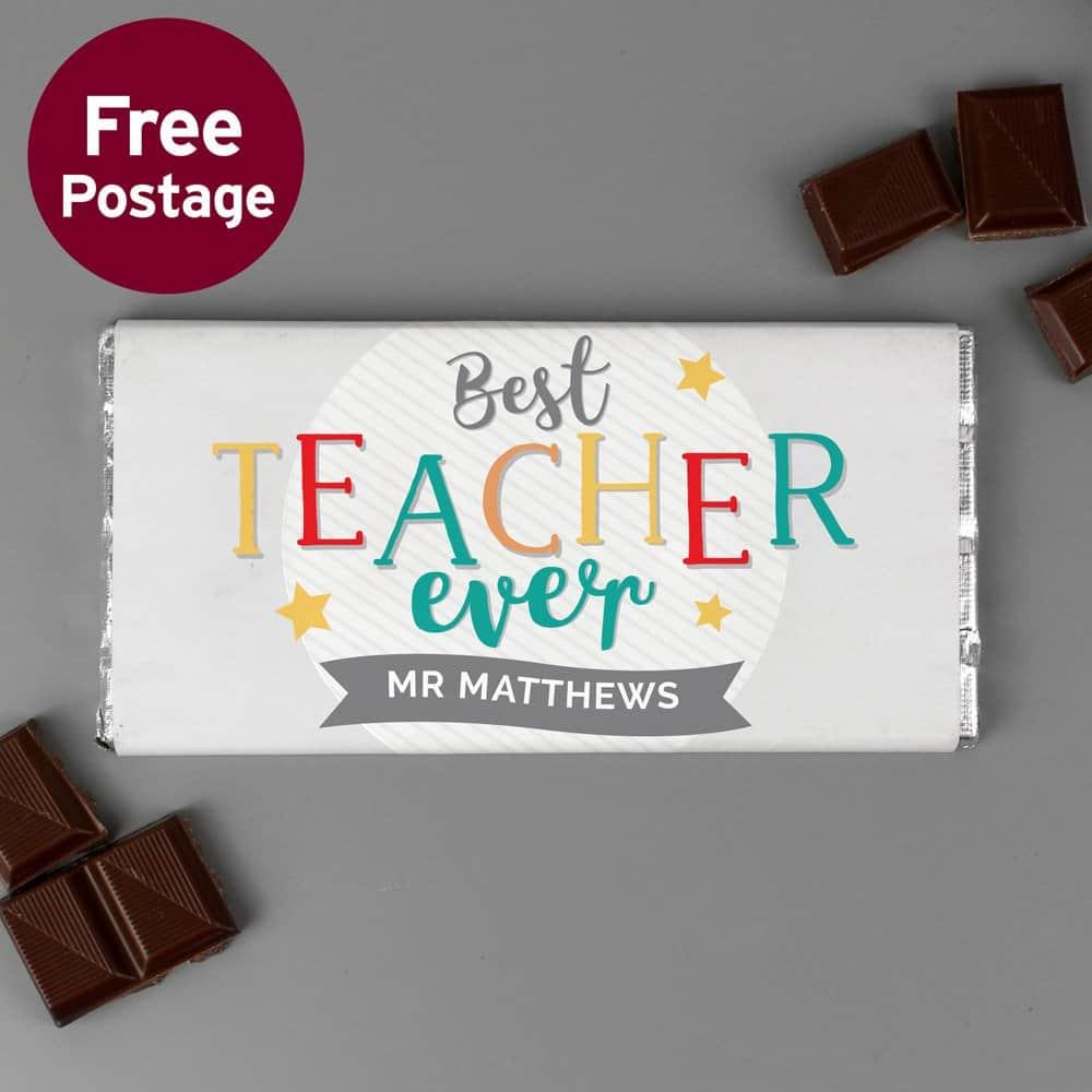 Best Teacher Ever Milk Chocolate Bar