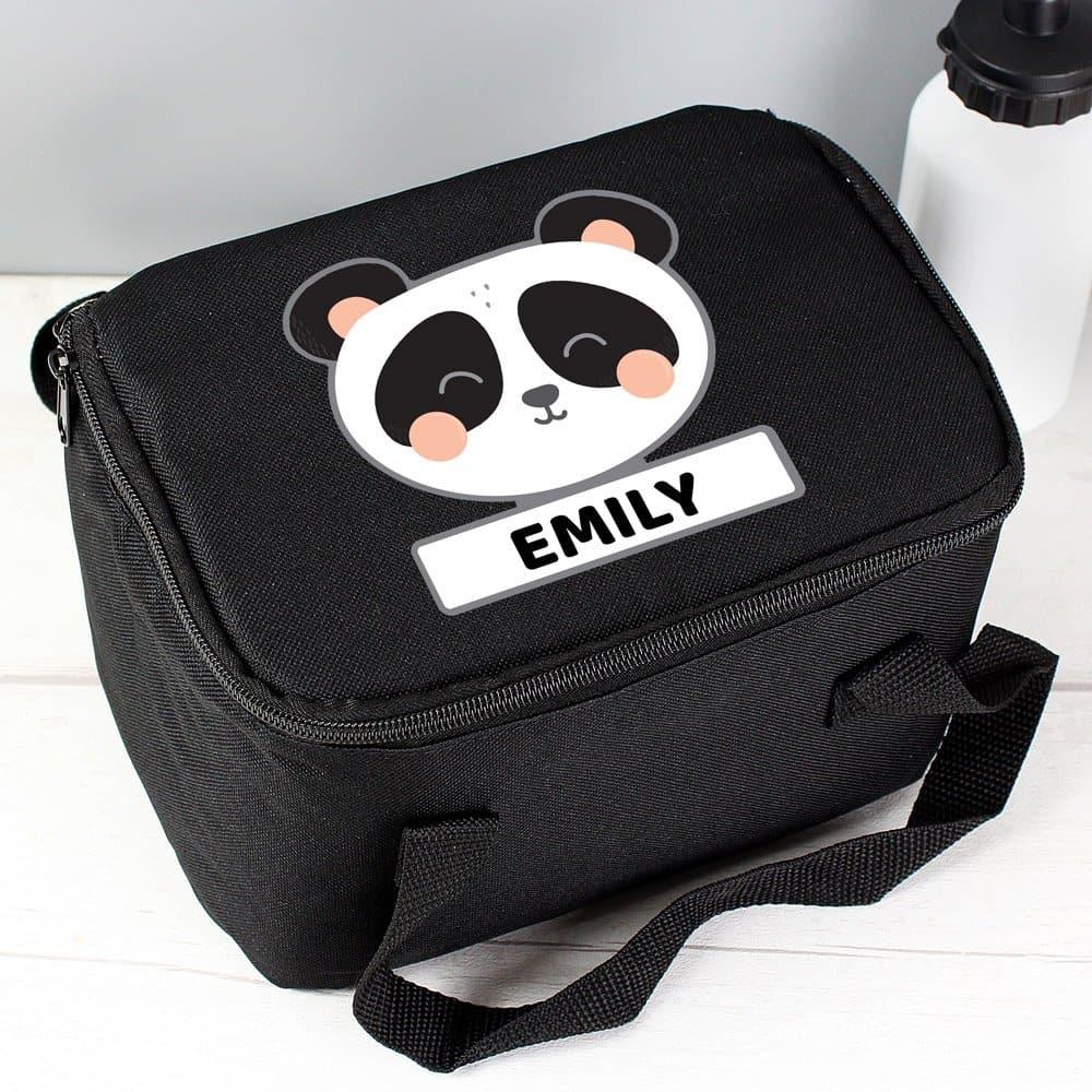 Panda Black Lunch Bag
