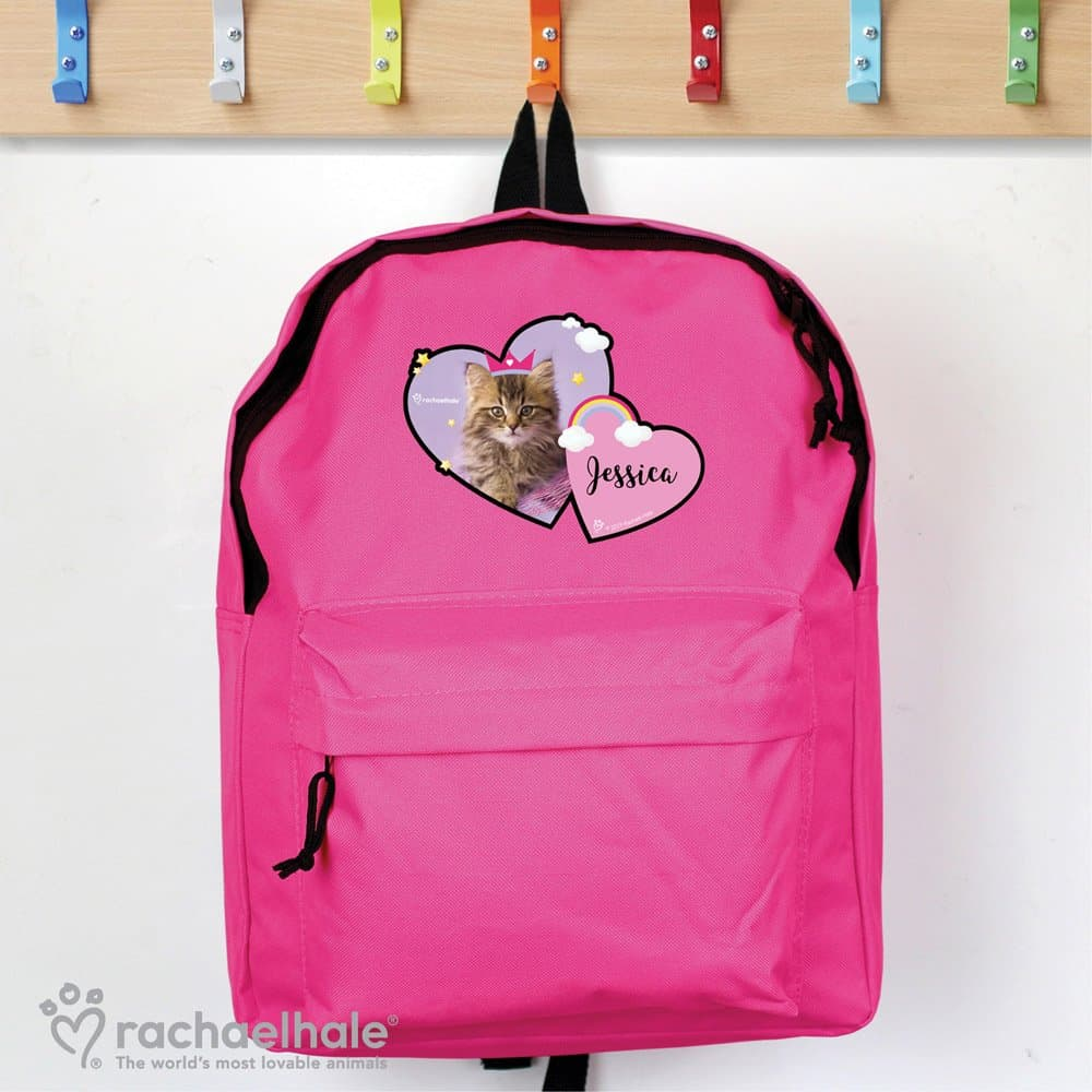 Rachael Hale Cute Cat Pink Backpack