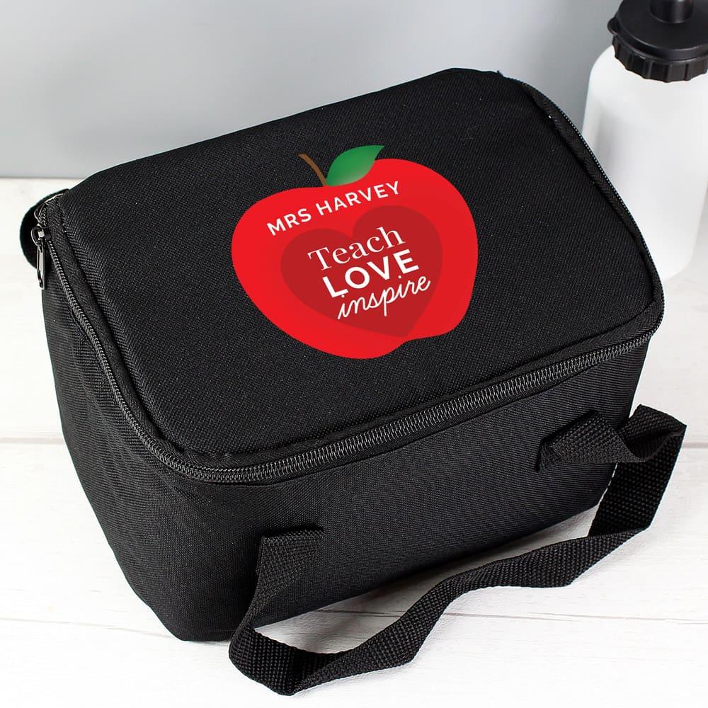 Teachers Apple Black Lunch Bag