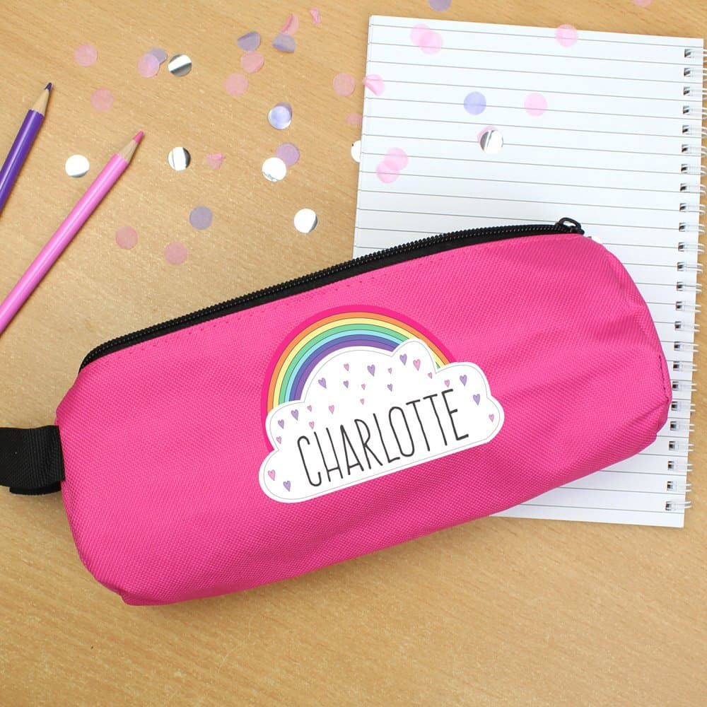 Rainbow Pink Pencil Case